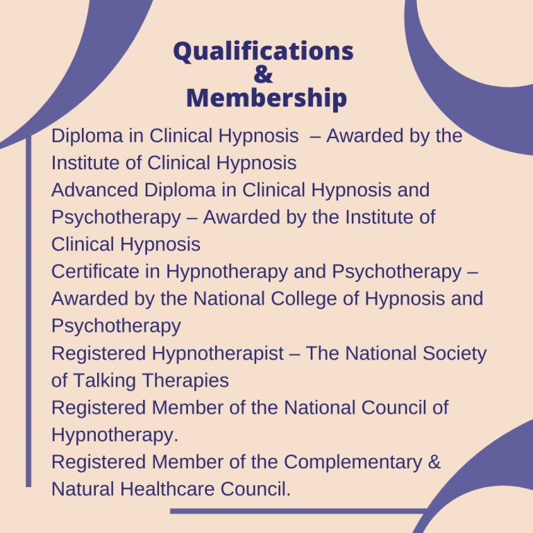 Symantha's Talking Therapy - Qualifications of therapist